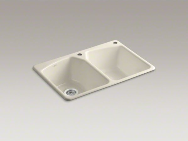 "KOHLER Tanager(R) 33"" x 22"" x 9-5/8"" top-mount double-equal bowl kitchen sink wi contemporary-kitchen-sinks"