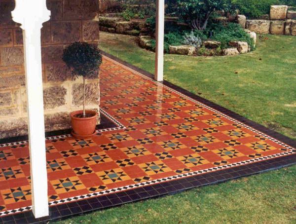 Great patio style floor modern living spanish tile for Spanish style floor tiles