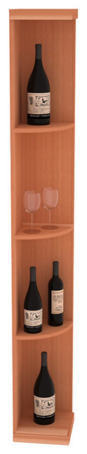 Quarter Round Wine Display in Redwood, (Unstained) contemporary-wine-racks