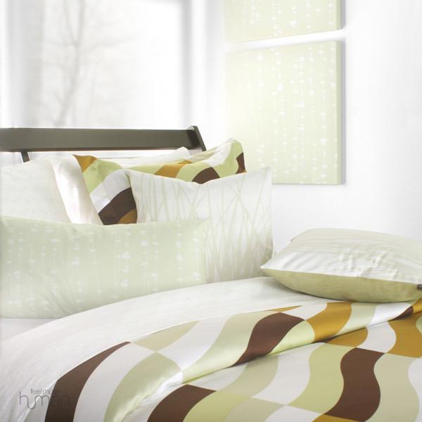 Inhabit Soak in Amber Full/Queen Duvet Cover and Shams Set modern-bedding