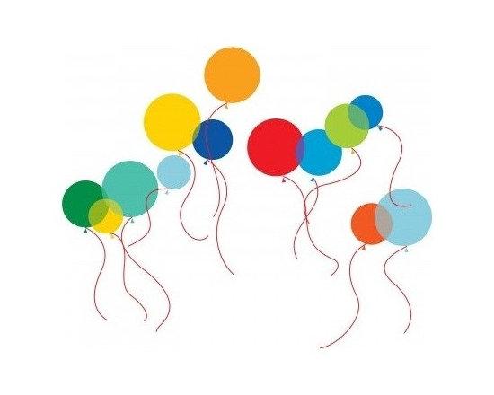 Wallcandy Arts Birght Balloons Wall Decals - Wallcandy Arts Birght Balloons Wall Decals