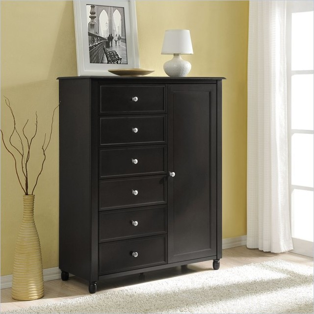 Altra Furniture Winslow Storage Armoire in Espresso Finish - Contemporary - Armoires And ...