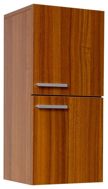 Fresca Bathroom Linen Cabinet w/Slow Close Hinges - Teak modern-bathroom-storage