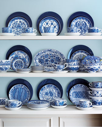 Blue And White Dinnerware - Traditional - Dinnerware - by Horchow