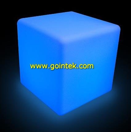 LED Cube Chairs For Seating modern-footstools-and-ottomans