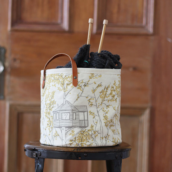 Tree House Bucket by Jenna Rose Handmade modern storage and organization