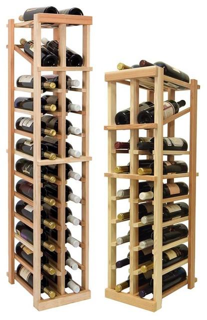 Vintner Series Wine Rack - Individual Bottle Wine Rack - 2 Columns with Display traditional-wine-racks