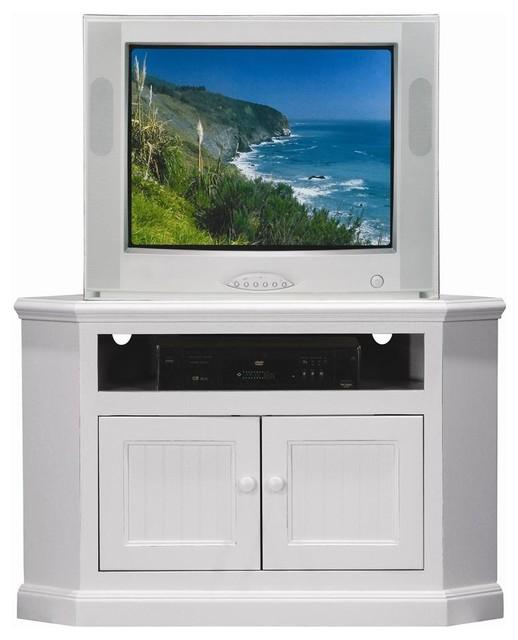 Coastal Value Priced Corner TV Stand (Soft White) - Contemporary - Entertainment Centers And Tv ...