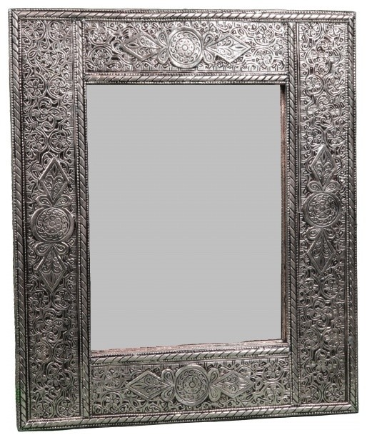 Hand-Engraved Moroccan Mirror. - Eclectic - Wall Mirrors - new york - by Second Shout Out