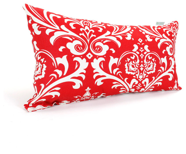 Outdoor Red French Quarter Small Pillow modern-outdoor-cushions-and-pillows