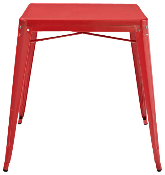 Metal Cafe Table, Red - Contemporary - Nightstands And Bedside Tables ...