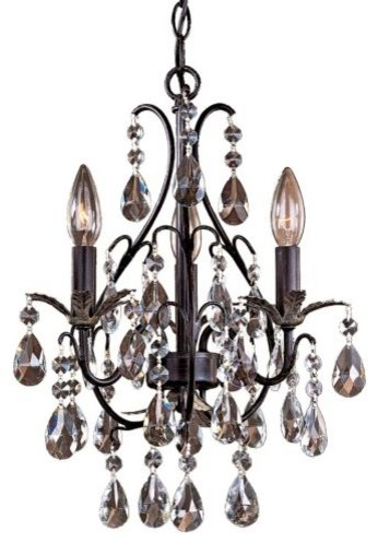 Castlewood Crystal Mini-Chandelier by Minka-Lavery traditional-chandeliers