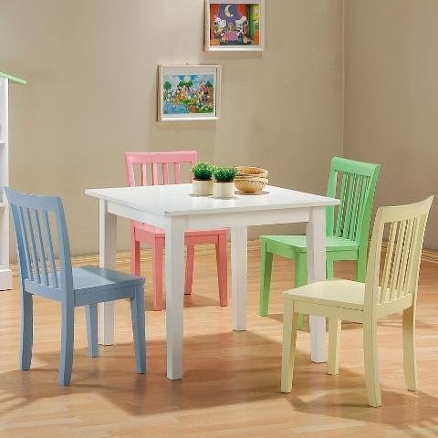 5 Piece Kids Set Playroom Table amp Chairs Contemporary