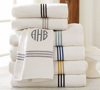 Grand Embroidered Hand Towel, Espresso traditional-bath-towels