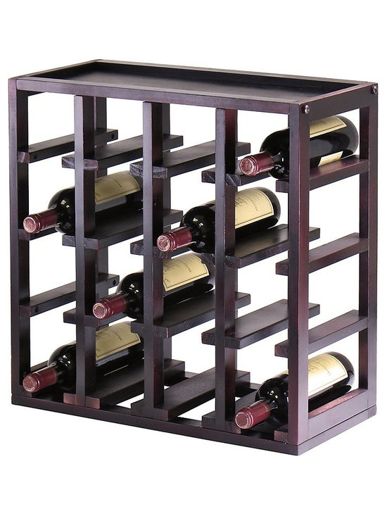 Winsome - Kingston Stackable 16 Bottle Wine Rack Cube Multicolor - 92144 - Shop for Wine Bottle Holders and Racks from Hayneedle.com! Create the customized wine storage you've always wanted with the Kingston Stackable 16 Bottle Wine Rack Cube. This wine rack features a 16-bottle capacity capable of accommodating a standard-size wine bottle in each of its slots. This modular wine rack can be easily stacked or arranged side by side with multiple units so you can finish a wine cellar or add attractive wine storage to a countertop or open floor space. This wine cube is crafted from solid wood and wood composites all finished in a bold rich espresso wood stain for lasting beauty. Dimensions: 29.47L x 9.92W x 20.47H inches. About Winsome TradingWinsome Trading has been a manufacturer and distributor of quality products for the home for over 30 years. Specializing in furniture crafted of solid wood Winsome also crafts unique furniture using wrought iron aluminum steel marble and glass. Winsome's home office is located in Woodinville Washington. The company has its own product design and development team offering continuous innovation.