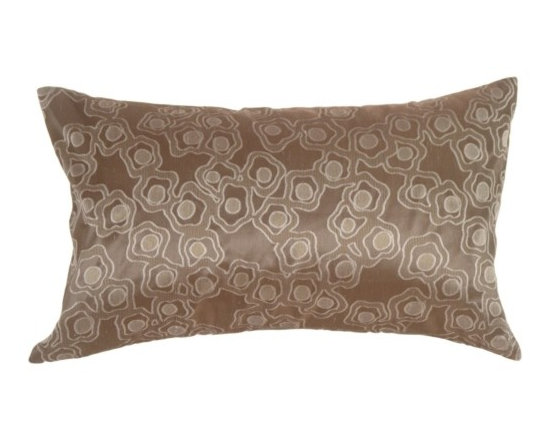 Pillow Decor - Pillow Decor - Chain in Silver Blue Silk Accent Pillow - Very chic and contemporary, the pattern on this pillow resembles a broken flower chain, or floating petals. It will add a soothing touch to your modern decor.