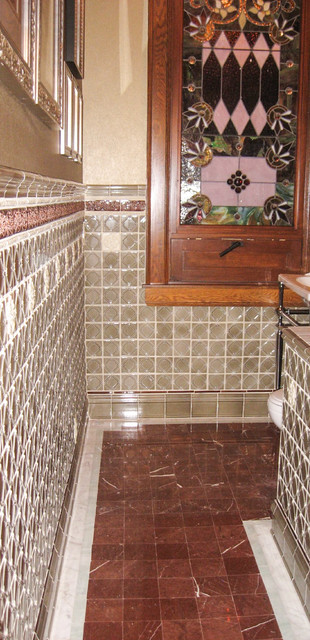 Victorian Traditional to Victorian Modern traditional-powder-room