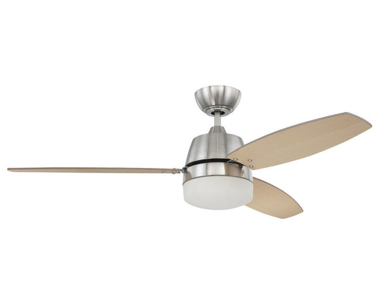 "Ellington Fans - Ellington Fans E-BEL52BNK3CRW Brushed Nickel Modern Modern Indoor 3 - Ellington Fans Beltre Modern Indoor 3 Blade 52"" Ceiling Fan with Light Kit and Controls Establish a modern presentation to your home with the Beltre Ceiling Fan from the Modern Collection by Ellington Fans. The fan makes use of an excellent Brushed Nickel finish and a beautiful Light Oak / Black finish on the fan blades to create a look and feel sure to catch the eyes of guests and passerby alike. Current, fresh, and sophisticated. Ellington Fans Modern Collection is that unexpected edge that is sure to stand out in a crowd. Let your confidence radiate, while your style envelops your space. Ellington Fans Beltre Features:  WC-100 Wall Control RC103 Remote Light Oak / Matte Silver Blades 3 x 60 Watt Down Light Kit Adaptable  (Not Included)   Ellington Fans Beltre Specifications:  CFM: 4141.6 Watts: 59.1 Height from Blades: 13"" Height from Ceiling: 16"" Light Kit Adaptable: Yes Light Kit Included: Yes Number of Blades: 3 Blade Span: 52"" Control Type: Wall Control Control Type: Remote Remote Included: Yes"