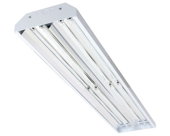 MaxLite - MaxLite BLHT110USD4810 BayMAX LED Linear High Bay Light, 5500K - MaxLite's BayMax LED Linear High Bays are high-performance LED luminaires that are ideal in manufacturing and warehousing. The bi-level capable wiring option (AB Switch) offers a cost effective way to reduce your energy costs by using motion sensors or simple switching techniques while the dimming driver option (SD, for Single Dimming) allows for full output control using standard 0-10 volt dimmers. LM-80-tested custom LED strips provide ideal light distribution for mounting heights from 15 to 35 feet. These luminaires replace up 400-watt metal halide high bays, and are constructed of 22 gauge sheet steel for heat sinking. The specular reflector achieves maximum luminaire efficiency. A top side access door provides easy serviceability by enabling unobstructed driver access. Correlated Color Temperature: 5,500�K. 11,920 lumens. 115 watts consumed. Color Rendering Index: 70+. 0-10V dimming standard. Input voltage: 120 to 277 AC. High power factor for high efficiency. PF >0.95. Operating temperature range: -30 �F to 120 �F. Indoor use. 20 pounds. 65,000 hour lifetime, at L70 standards. Warranty: 5 years. Certifications: UL, LM79, LM80, DLC, FCC. RoHS: constructed without hazardous materials.