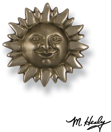 MHR64 Smiling Sunface traditional-cabinet-and-drawer-knobs