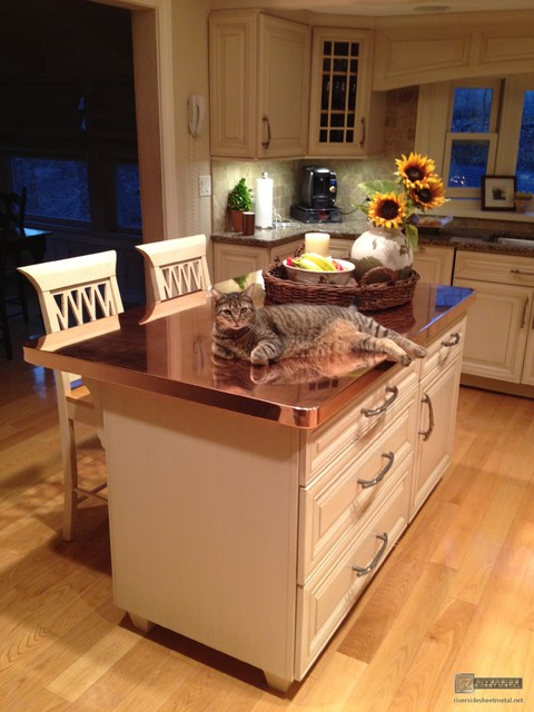Copper Counter Tops  Modern  Kitchen Worktops  boston  by
