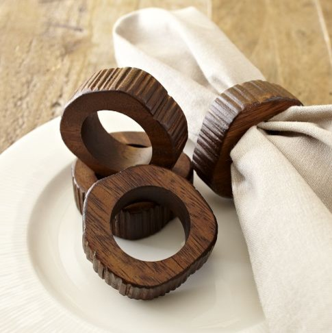 Wood Slice Napkin Ring eclectic napkin rings