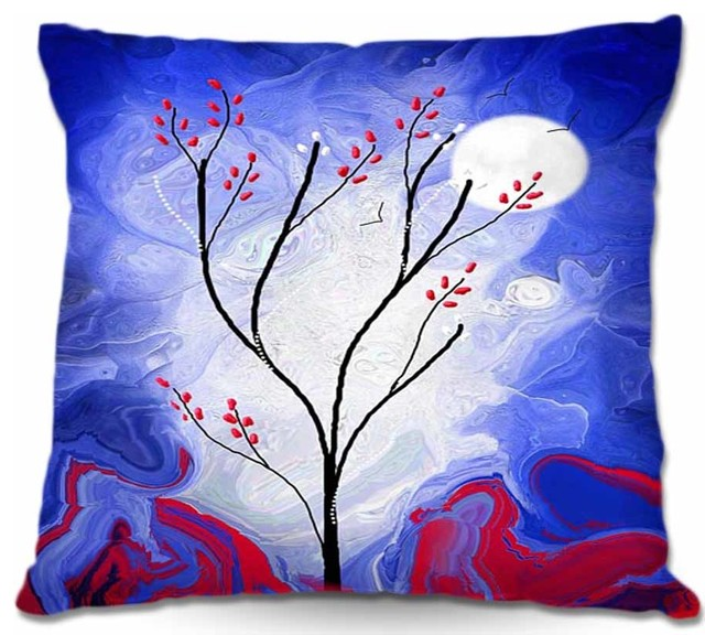 Pillow Woven Poplin from DiaNoche Designs - Touch the Moon contemporary-decorative-pillows