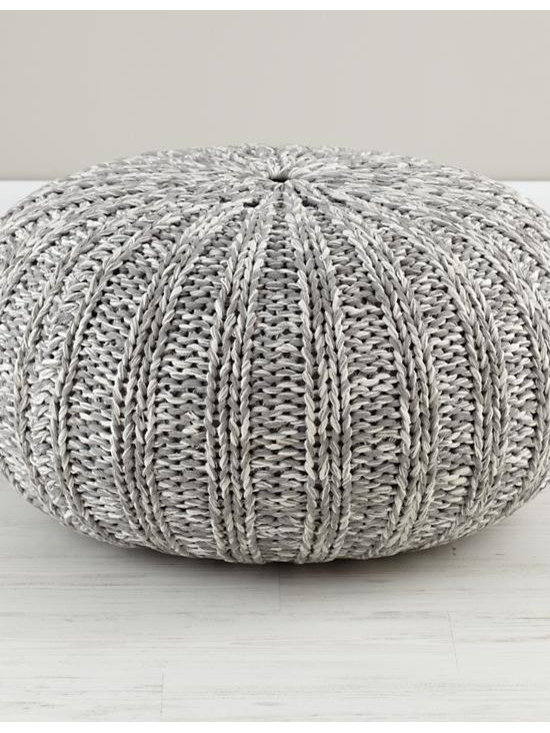 Pull Up a Pouf, Gray Variegated -