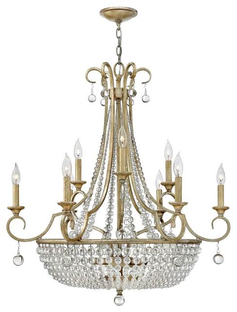 Fredrick Ramond FR43759SLF Caspia Silver Leaf 12 Light Chandelier traditional-chandeliers