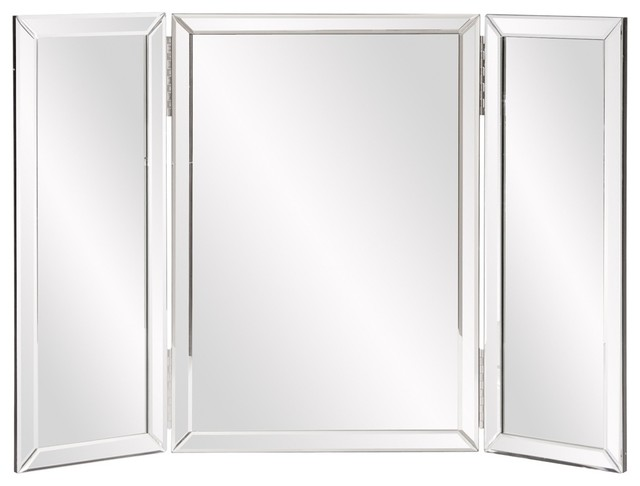 Tripoli Trifold Vanity Mirror Contemporary Mirrors