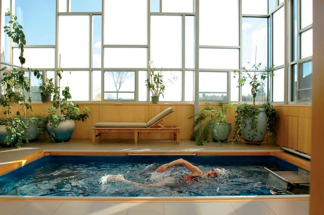 Indoor Endless Pool® contemporary-swimming-pools-and-spas