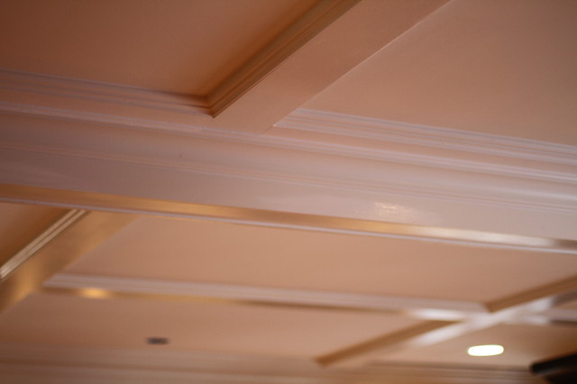 Coffered Ceiling traditional-family-room