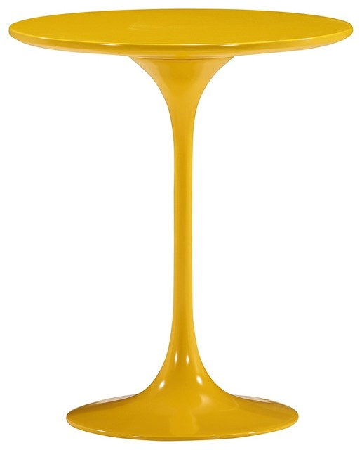 Zuo Wilco Glossy Yellow Side Table contemporary-side-tables-and-end-tables