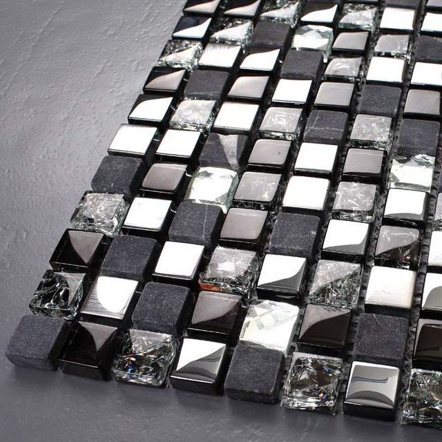 brushed 304 stainless steel wall art crack crystal glass