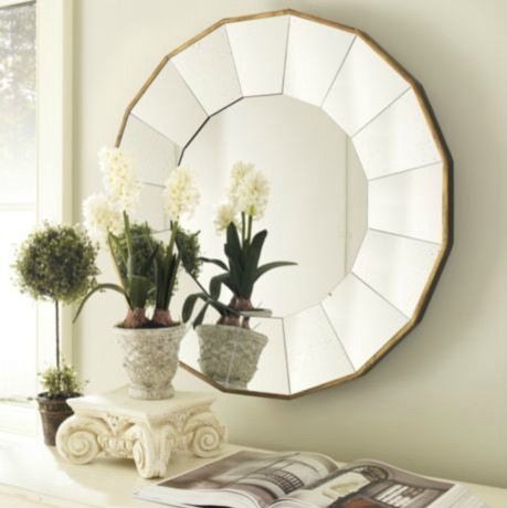 Concave Sunburst Mirror midcentury-mirrors