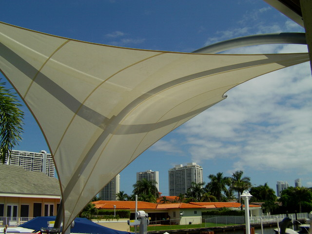 Quot The Element Quot Tension Shade Structure Modern Outdoor