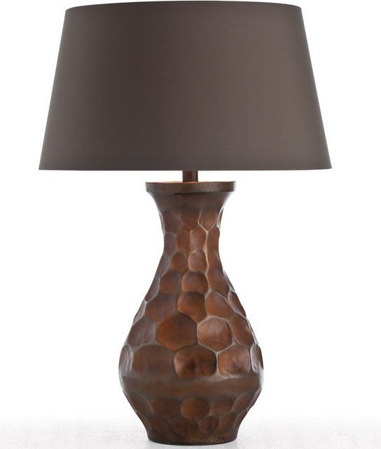 Arteriors Sola Antique Copper Honeycomb Table Lamp