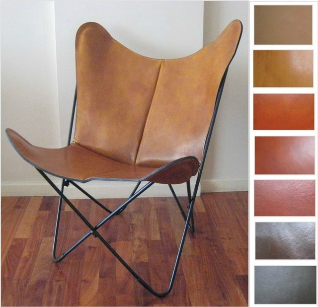 "Original BKF Butterfly Chair ""Prima"" In Leather- Hardoy"