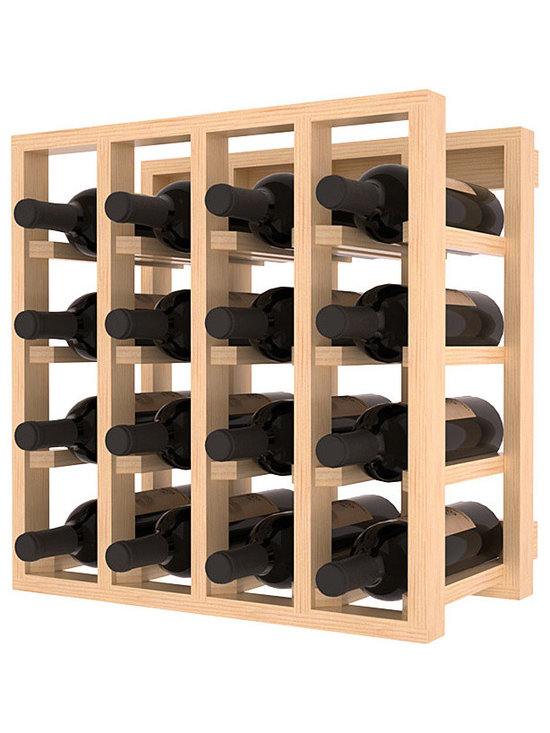 Lattice Stacking Wine Cubicle in Pine with Satin Finish - Designed to stack one on top of the other for space-saving wine storage our stacking cubes are ideal for an expanding collection. Use as a stand alone rack in your kitchen or living space or pair with the 20 Bottle X-Cube Wine Rack and/or the Stemware Rack Cube for flexible storage.