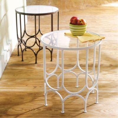 Bella Outdoor Iron Table - Grandin Road contemporary-outdoor-side-tables