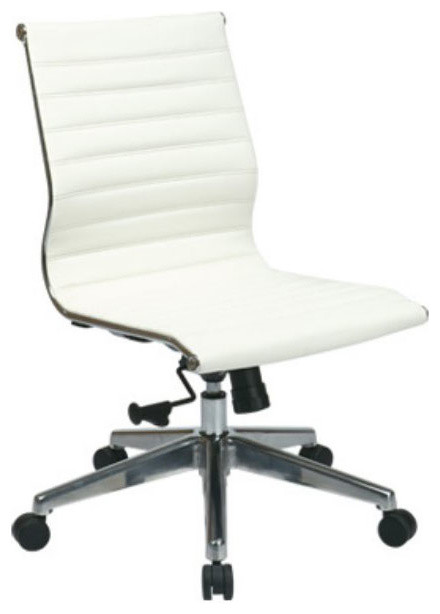 Mid Back White Leather Office Chair Modern Office Chairs Atlanta By V