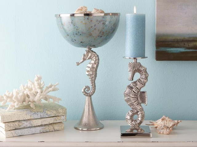 Seahorse Accessories tropical candles and candle holders