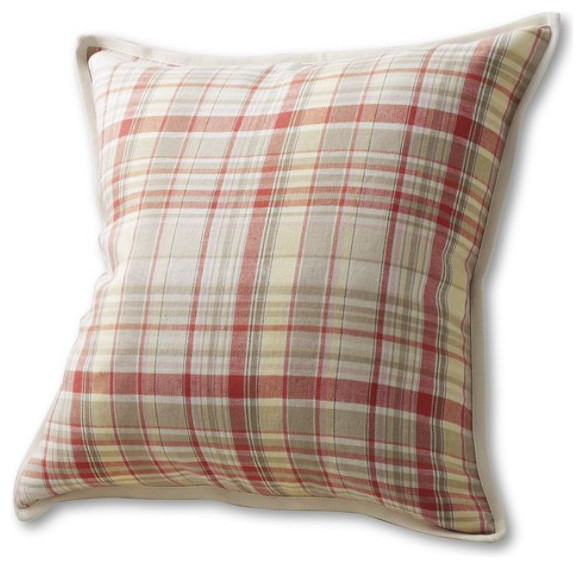 """20"""" x 20"""" Madras Decorative Pillow Cover traditional-pillows"""