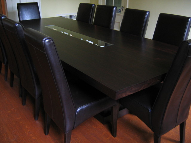 custom walnut dining table contemporary dining tables by paul