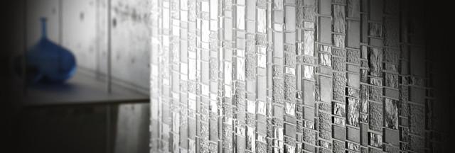 White Horse Laliberte glass tile mosaic modern-tile