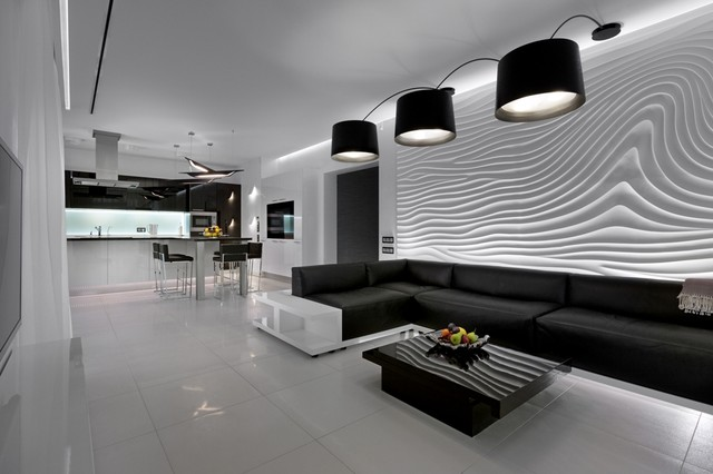 3d Wall Surfaces : Sculptural d seamless wall surfaces contemporary