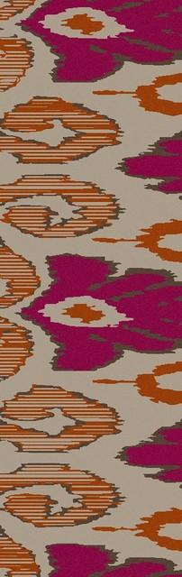 "Contemporary Alameda Hallway Runner 2'6""x8' Runner Ivory, Magenta Area Rug contemporary-rugs"