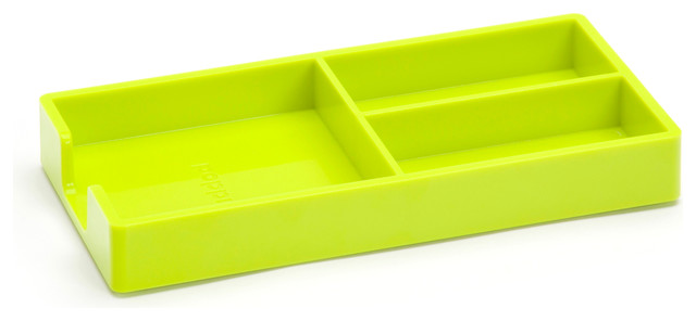 Bits And Bobs Tray Lime Green Modern Desk Accessories