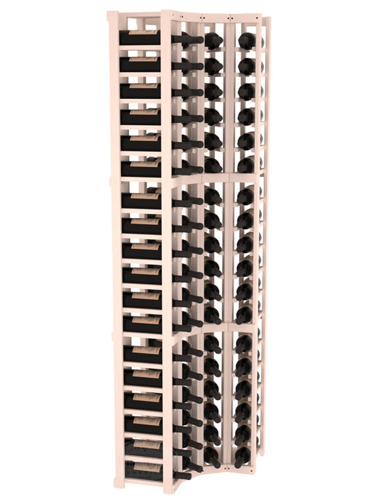 Wine Racks America® - 4 Column Wine Cellar Corner Kit in Pine, White Wash Stain - Get the most storage in your wine cellar with unique corner wine racks. We construct every rack to our industry-leading standards and back them up with our lifetime warranty. Designed with emphasis on functionality, these corner racks fit seamlessly into our modular line of wine racks.