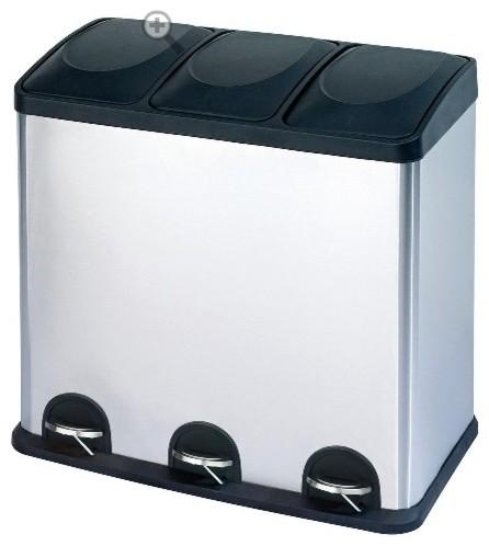 Chiasso Trio Recycling Bin contemporary-recycling-bins